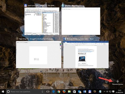 Windows 10 Raccourcis Clavier Pour Les Bureaux Virtuels Bureau Virtuel