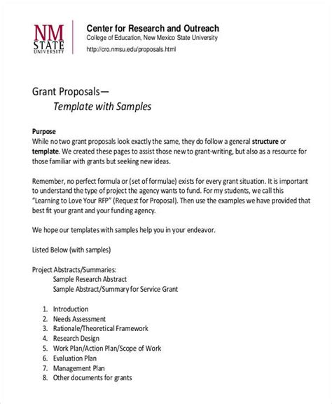 8 Grant Proposal Exles Sles Pdf Word Pages How To Write A Grant Template