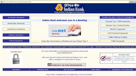 indian bank banking indianbank net in net banking login guide letmeget