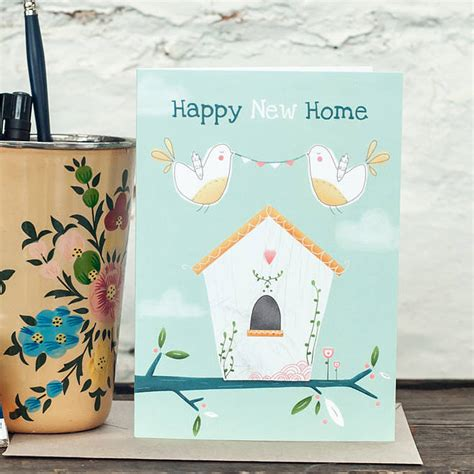 happy  home  card  louise wright design