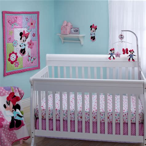 Minnie Mouse Crib Bedding Sets Minnie Mouse Simply Adorable 4 Crib Bedding Set Disney Baby