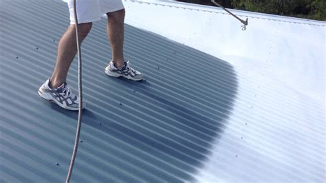 spray painting roof ace high painting service repainting colorbond roof
