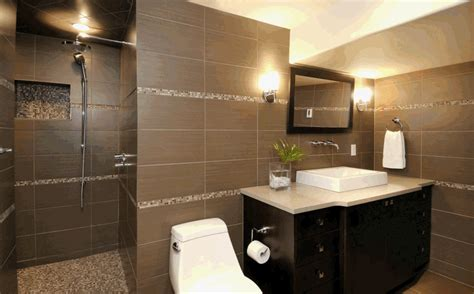 ideas for tile bathroom design black brown tile bathroom
