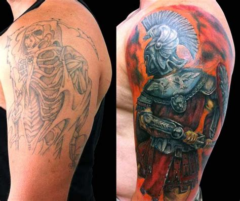 roman warrior tattoo a soldier arises from in this amazing