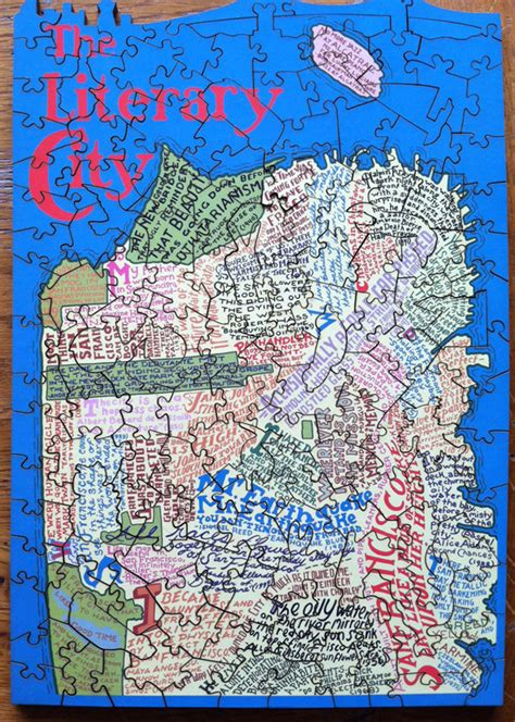 san francisco map puzzle a typographic literary map of san francisco in a puzzle