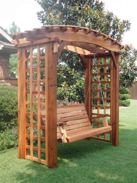 Japanese Pergola Swing Bench Arbor Swing Bench Garden