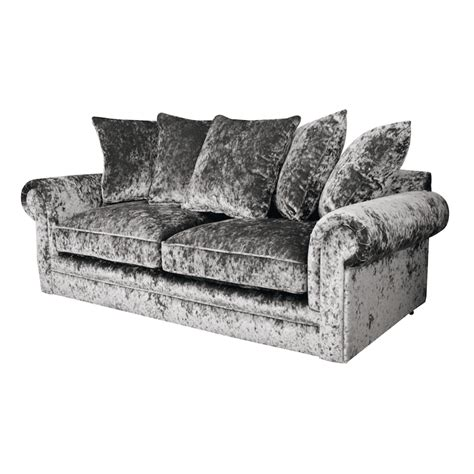charlotte chesterfield 3 seater crushed velvet sofa in