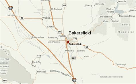 bakersfield california us map bakersfield location guide