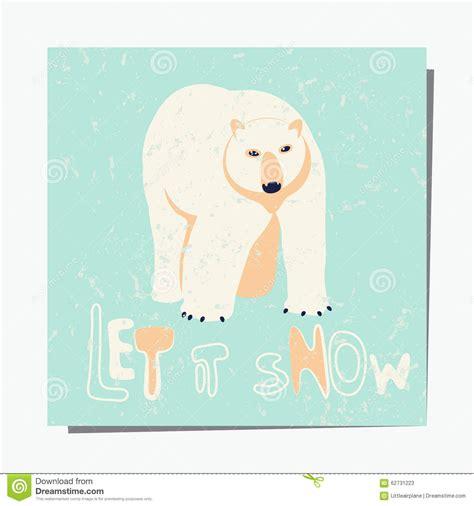 birthday card template winter polar stock vector image 62731223