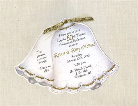 Wording For Golden Wedding Invitations Uk Mini Bridal Golden Anniversary Invitation Templates