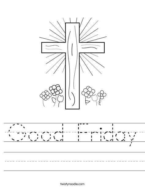 printable coloring pages for good friday good friday worksheet twisty noodle