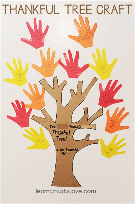 thankful tree template thankful tree craft