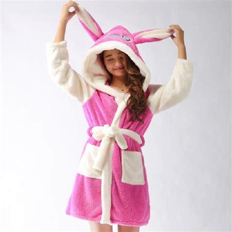 Dress Pajamas Bunny new plush robe animal bunny panda stitch pajamas sleeve sleepwear bath robes