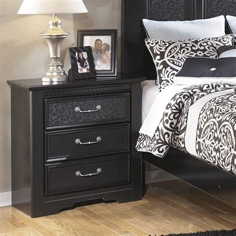 cavallino bedroom set ashley cavallino 3 drawer wood nightstand in black b291 93