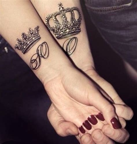 king and queen tattoo ideas 101 crown designs fit for royalty