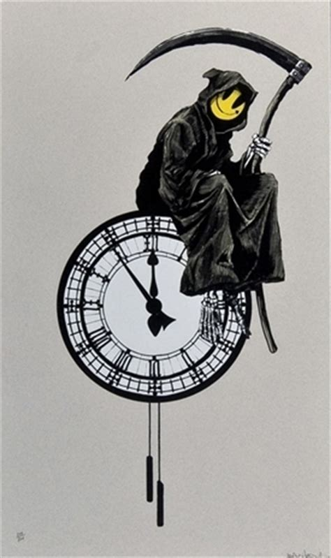 grin reaper by banksy on artnet auctions
