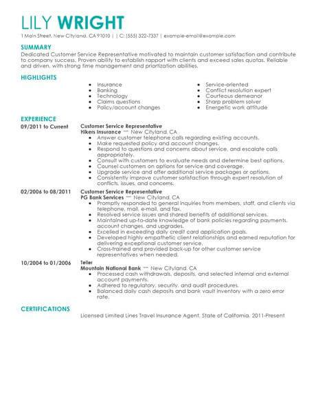 My Resume Customer Service by Simple Customer Service Representative Resume Exle