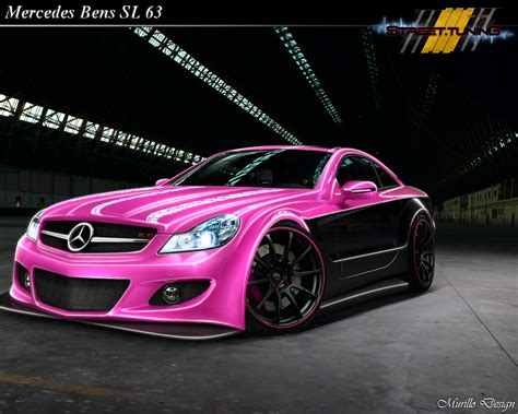 pink mercedes pink and black cars 6 cool wallpaper