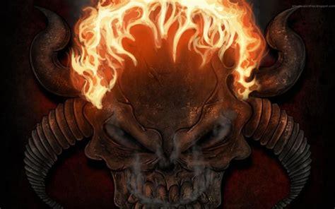 imagenes de calaveras en fuego calavera con cuernos im 225 genes de miedo y fotos de terror