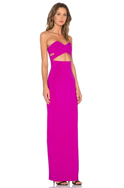 Maxy Goldy lyst solace goldie crepe maxi dress in purple