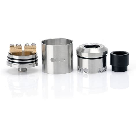 goon style rda 22mm 316ss silver rebuildable atomizer