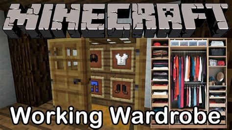 How To Build A Closet In Minecraft by Minecraft Working Wardrobe Closet