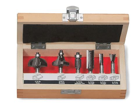 Router Bit Set craftsman 6 pc router bit set shop your way shopping earn points on tools