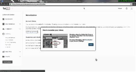 adsense youtube monetisation how to create youtube monetization and google adsense 2014