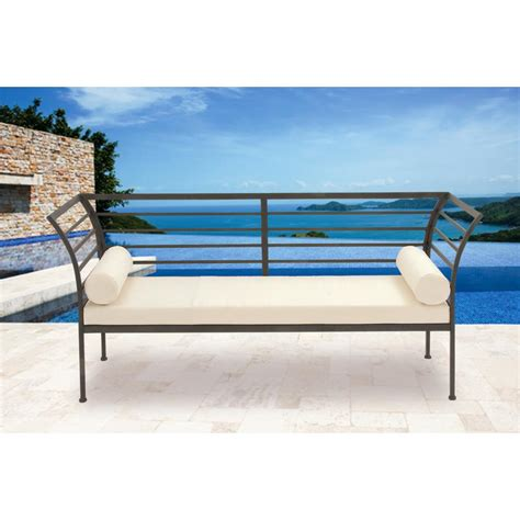 white iron bench contemporary black and white iron bench with cushion 50367