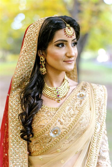 casual hairstyles with dupatta on head open hair on the wedding day these real brides did it