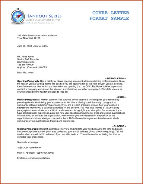 letter format example formal letter format business letter