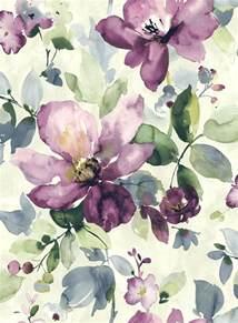 Purple Flower Prints - allegra watercolour flora and watercolor art