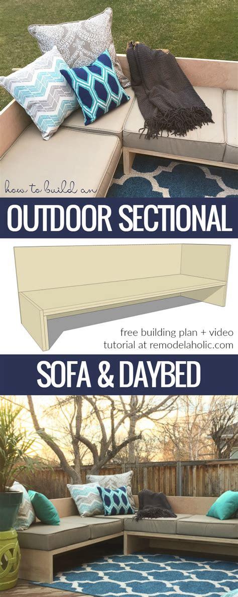 how to build a knife sofa diy outdoor sectional sofa tutorial building plan