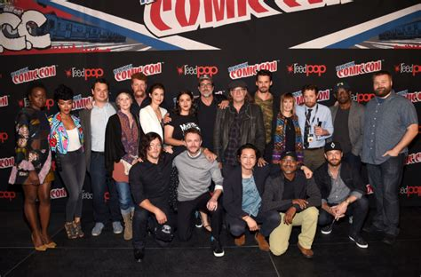 new walking dead cast 2016 highlights from the walking dead panel at new york comic con