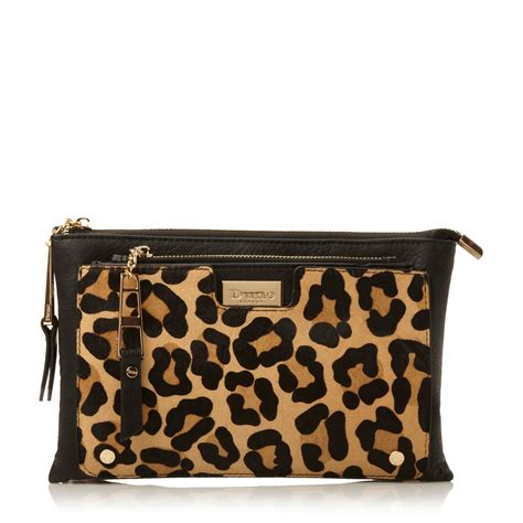 Clutch Pouch dune electra pouch clutch bag in animal leopard