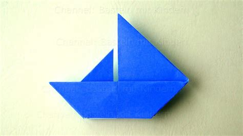 origami boat anleitung origami boot basteln mit kindern einfaches origami