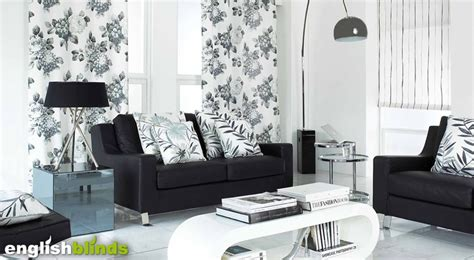Black Grey And White Curtains Ideas Luxury Black Grey And White Monotone Floral Patterned