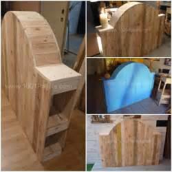 T 234 te de lit en bois de palette pallet bed headboard from upcycled