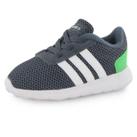adidas baskets lite racer chaussures b 233 b 233 gar 231 on gris blanc et vert achat vente basket
