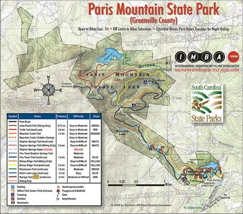map of carolina state parks take a hike mountain state park map greenville sc