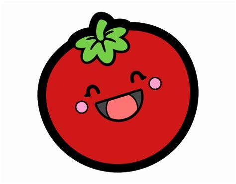 imagenes de comida saludable kawaii dibujo de tomate kawaii pintado por en dibujos net el d 237 a