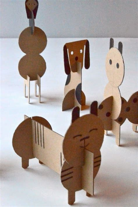 How To Make Animals Out Of Paper - make cardboard geometric animals crafts for