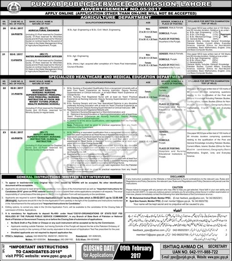 pattern tester jobs jobs in ppsc punjab 2017 test pattern sle paper ppsc