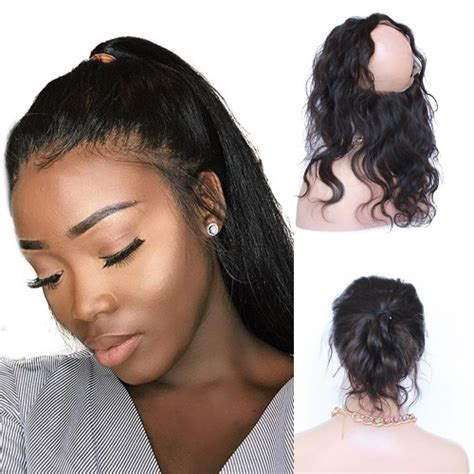 hair music full frontal 360 full lace frontal brazilian human hair body wavy