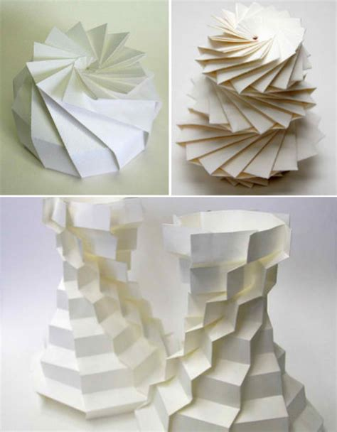 3d Origami Sculptures - math paper craft computer scientist creates 3d origami