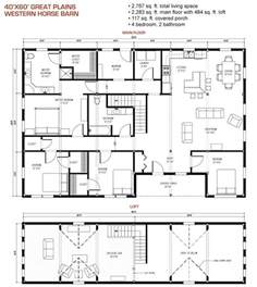 Pole Barn House Floor Plans Wood Project Ideas Barn Plans 40 X 60