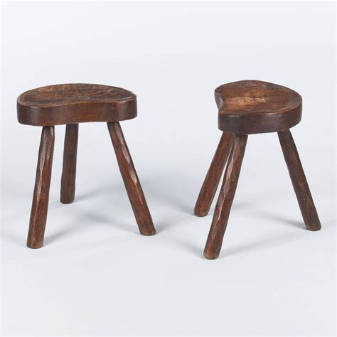 Country Stools by Pair Of Country Ashwood Stools 1950s For Sale At