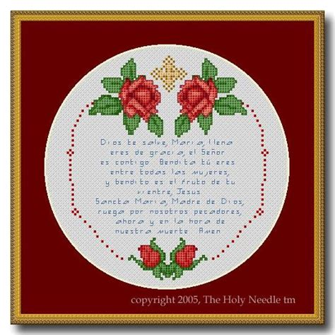 color pattern in spanish cross stitch pattern pdf spanish hail mary el camino