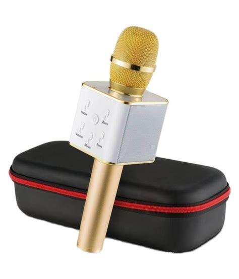 Wireless Mic Dan Hifi Speaker Q7 Microphone Speaker Portable s blaze black portable wireless karaoke mic with inbuilt wireless microphone hifi speaker q7