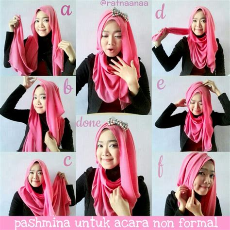 tutorial hijab pashmina instagram hijab menawan di acara non formal dream co id